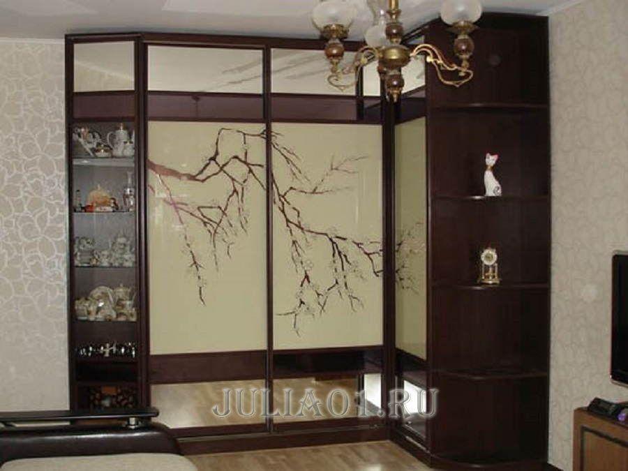 Угловой шкаф-купе в гостиную: фото, дизайн, идеи domoked.ru.