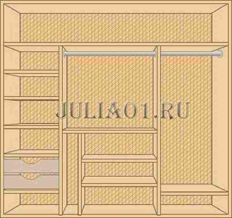 Дизайн шкафа купе 3 метра